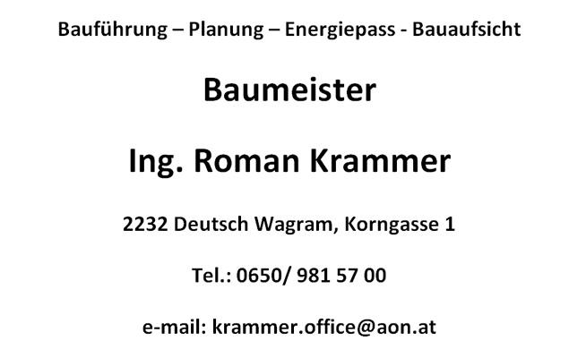Baumeister Ing. Roman Krammer