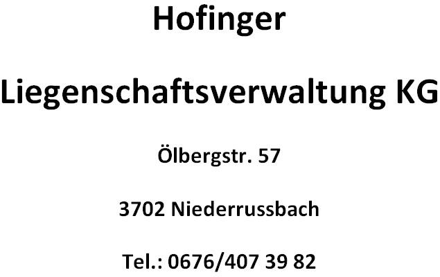 Hofinger Liegenschatsverwaltung KG