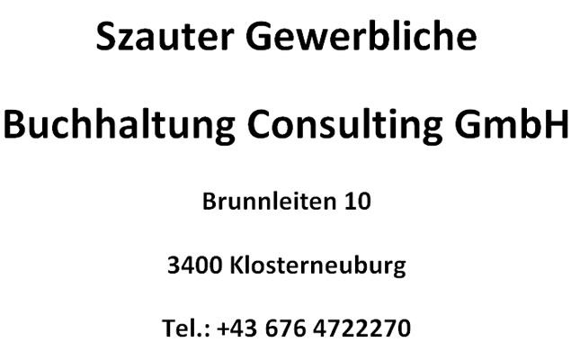 Szauter Gewerbliche Buchhaltung Consulting GmbH